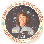 America's Educators Christa McAuliffe Space Shuttle Challenger Pin