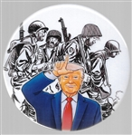 Anti Trump Mauldin Style Cartoon Pin by Brian Campbell
