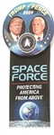 Trump, Pence Space Force Pin and Ribbon