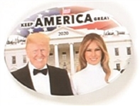 Donald, Melania Trump Oval White House Celluloid
