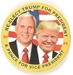 Trump, Pence Colorful Jugate