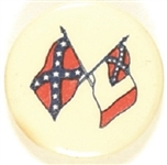 Pair of Confederate Flags Celluloid