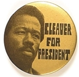 Cleaver for President Gold Celluloid