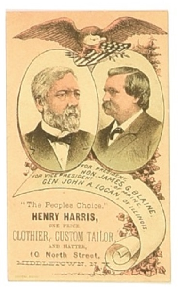 Blaine, Logan Trade Card