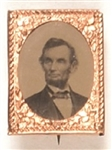 Abraham Lincoln 1864 Ferrotype Brass Shell