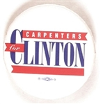 Carpenters for Clinton 1992 Celluloid