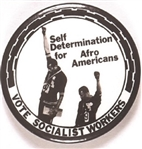 Socialist Workers 1968 Olympic Protest Self Determination Pin