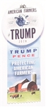 American Farmers for Trump Pin and Ribbon