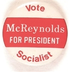 McReynolds Vote Socialist