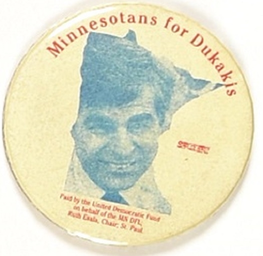 Minnesota for Dukakis United Democratic Fund, Different Union Bug