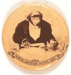 Have Supper With Me Rare Chimpanzee Pin