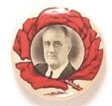 Franklin Roosevelt Red Rose Rare Celluloid