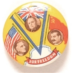 Roosevelt, Churchill, Stalin World War II Victory Freedom Pin