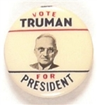 Vote Truman for President Red, White Blue Smaller Size Pin