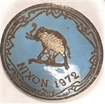 Nixon in '72 Blue Enamel Campaign Pin