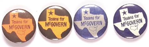 Set of Four McGovern Texas Pins