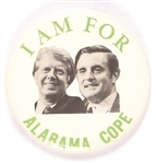 Carter, Mondale I Am for Alabama COPE