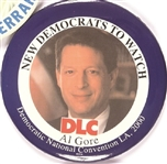 Al Gore New Democrats to Watch DLC 2000 Convention Pin