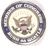 Bush, Quayle Rare Member of Congress Pin