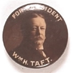 William Howard Taft Sepia Celluloid