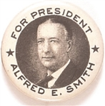Alfred E. Smith for President Two Stars Celluloid