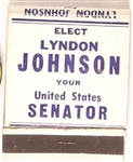 Elect Lyndon Johnson Senator Matchbook