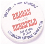 Reagan and Rumsfeld Together a New Beginning