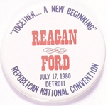 Reagan and Ford Together a New Beginning