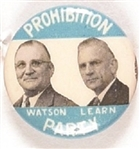 Watson and Learn Prohibition Party