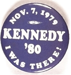 Ted Kennedy Announcement I Was There
