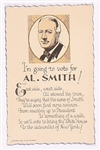 Al Smith Poem Election Card