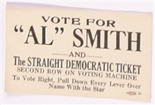 Vote for Al Smith Campaign Card