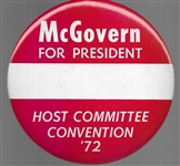 McGovern Host Committee 6 Inch Celluloid